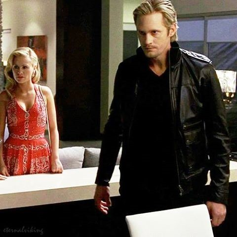 Eric played by Alexander Skarsgård and Sookie played by Anna Paquin