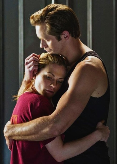 Eric and Sookie hug